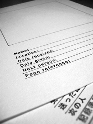 blank sketchbook pages